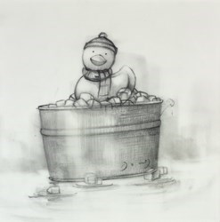 Ice Bath (Study II) by Doug Hyde -  sized 8x8 inches. Available from Whitewall Galleries
